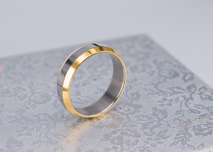 e2a18dbb1 Cool Simple Gold Plated Finger Rings , Stainless Steel Mens Gold Plated  Rings